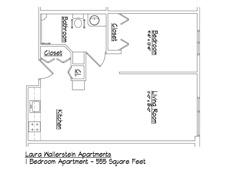 Erie Independence House, Erie PA - Laura Wallerstein Handicapped Accessible Apartments Floor Plan