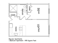 Erie Independence House - Bayview Handicapped Accessible Apartments Floor Plan