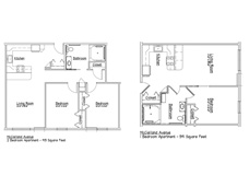 Erie Independence House - McClelland Mobility Impaired Apartments Floor Plan