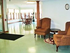 Erie Independence House Bayview Apartments Common Area is spacious and fully adapted to accommodate wheelchairs with ease.